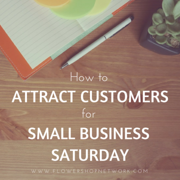 How to attract customers for small business saturday